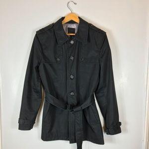 TED BAKER LONDON Black Trench Coat   UK 4 US 10